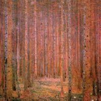 Gustav Klimt - Pine Forest - 1901