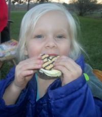 Lily Mae enjoying her smore