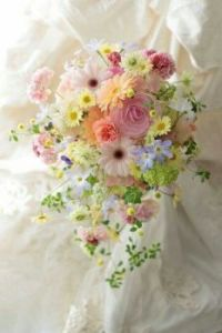 Happiness is.....Beautiful soft,delicate Bridal Bouquet.
