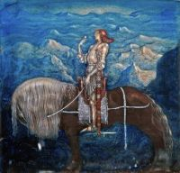 A knight rode on by John Bauer