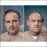 Marlon-Brando-before-and-after-getting-his-make-up-done-to-be-Don-Vito-Corleone-in-The-Godfather