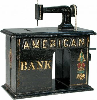 Sewing Machine - Antique Mechanical Bank