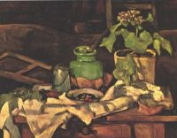 Flower Pot at a Table