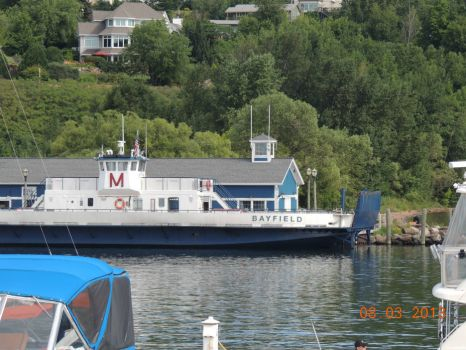Car ferry for Madeline Island at the Bayfield dock