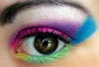 80's Make-up for Eyes
