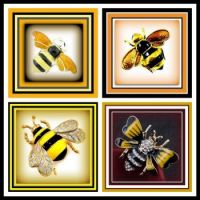 Just some Beautiful Bee Brooches for you to enjoy