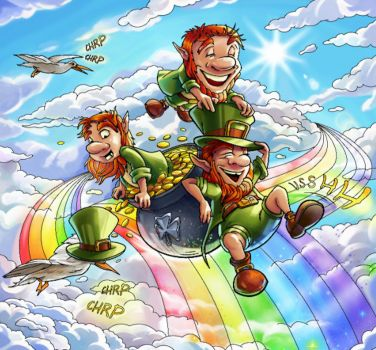 Leprechauns Over the Rainbow - 575