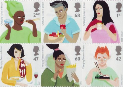 Changing Tastes British Stamps