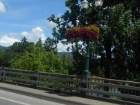 Lovely Flower Baskets Driving into Grants Pass on the 6th Street Bridge