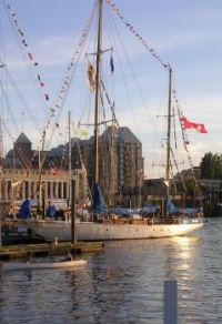 Sailing ship in Victoria Harbor B.C.