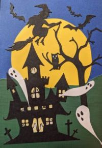 haunted house ghosts witch