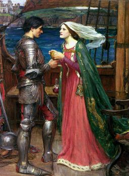 """Tristan and Isolde with the Potion"" (c1916) by John William Waterhouse."