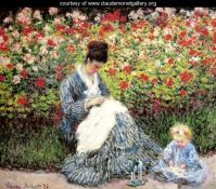 Claude Monet - Madame Camille Monet and Child, 1875 (Apr17P52)