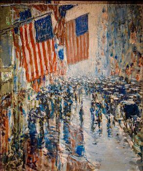 Rainy Day, Fifth Avenue, 1916, Childe Hassam (1859-1935)