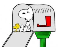 Mailboxes  Snoopy & Woodstock in Mailbox