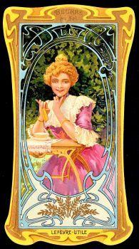 "Themes Vintage ads - Lefevre-Utile Tradecard ~ ""Beurre au Sel"""