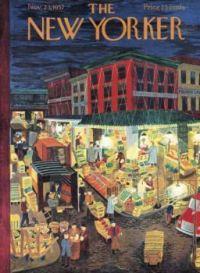 The New Yorker - November 23, 1957 / cover art by Ilonka Karasz
