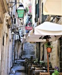 A Street In Dubrovnik Old City