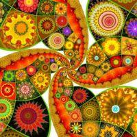 """Autumn Kaleidos - Twirled!""""  (XL)"""