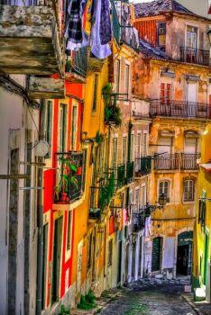 Old Street in Lisbon Portugal