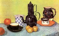 Still Life with Blue Enamel Coffeepot by Van Gogh