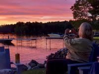 Sunset Reflection/Purple Water