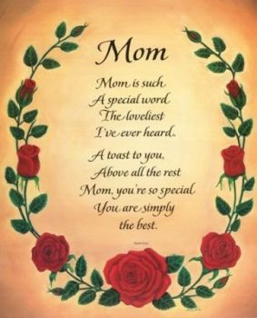 To all the Mother's out there Happy Mother's day
