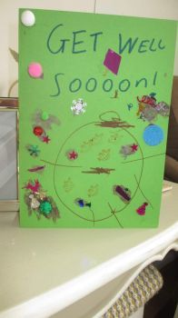 Piggly and Daddy made a card.
