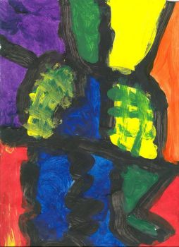 Finger Paint Stained Glass 1