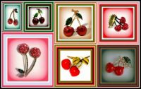 A Collection of Cherry Brooches