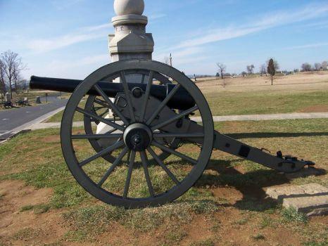 cannon on Gettysburg Battlefield, PA