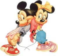 mickey & minnie back-to-back