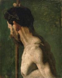 Study of a Nude Man (The Strong Man), c.1869 by Thomas Eakins (1844- 1916).