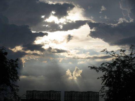I see an angel rising towards the sun