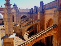 Flying Buttresses, Cathedral of Toledo, Spain