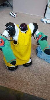 Robosapien got all dressed up!
