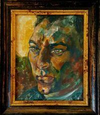 Portrait of Steve.  ( Acrylics on canvas. )