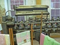 C1 - Weaving matetrial and equipment in Amana Colonies, Iowa, July 2016