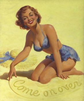 vintage - pinup - come on over