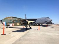 Fiesler Storch next to B52 at Wings Over Houston