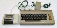 Commodore 64 with cassette player