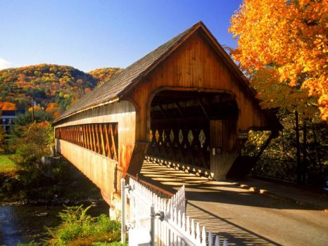 Woodstock Vermont Covered Bridge