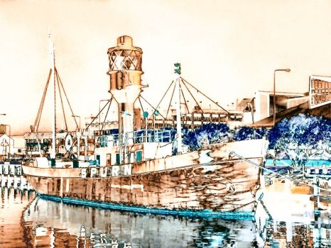 HDR of the Spurn Lightship at Hull - date unknown #3