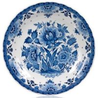 royal+delft+blue+plate+with+flowers