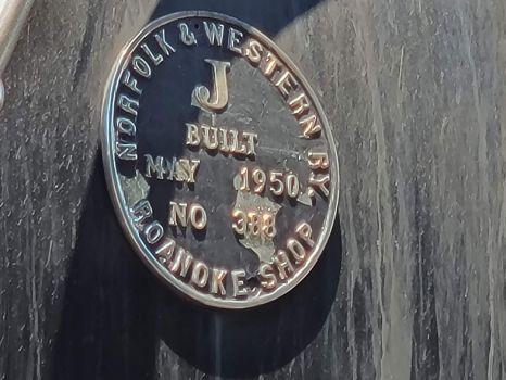 Norfolk & Western 611 birth plate