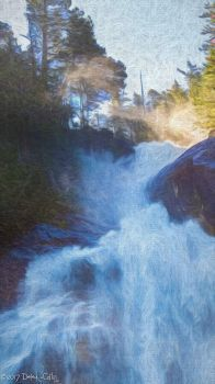 """Top of Shannon Falls (""""painting"""")"""