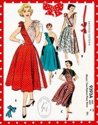 Vintage Fashion 1950s Cocktail Dress