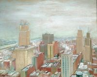 Downtown Kansas City in Winter, 1934, Fred Berger