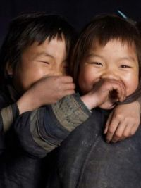 1 ~ 'Kids around the world' ~ Chuckling together!  :-)) ~ (TIBET)