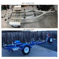 Boat Trailer Before & After Refurbishing